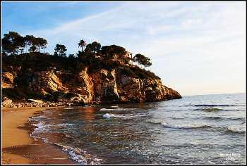 una vistas de la costa de sitges, magnífica opción para practicar el turismo de proximidad