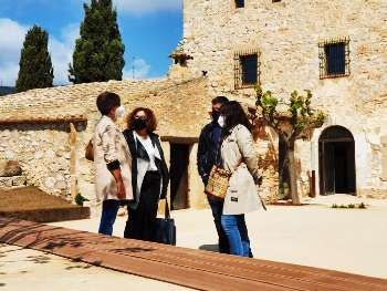 photo of the inauguration of the guided tours of the ribes caslte